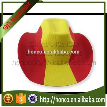 España casquillo del sombrero de vaquero alemán fútbol los aficionados  sombrero ... 57e2c5ade0b