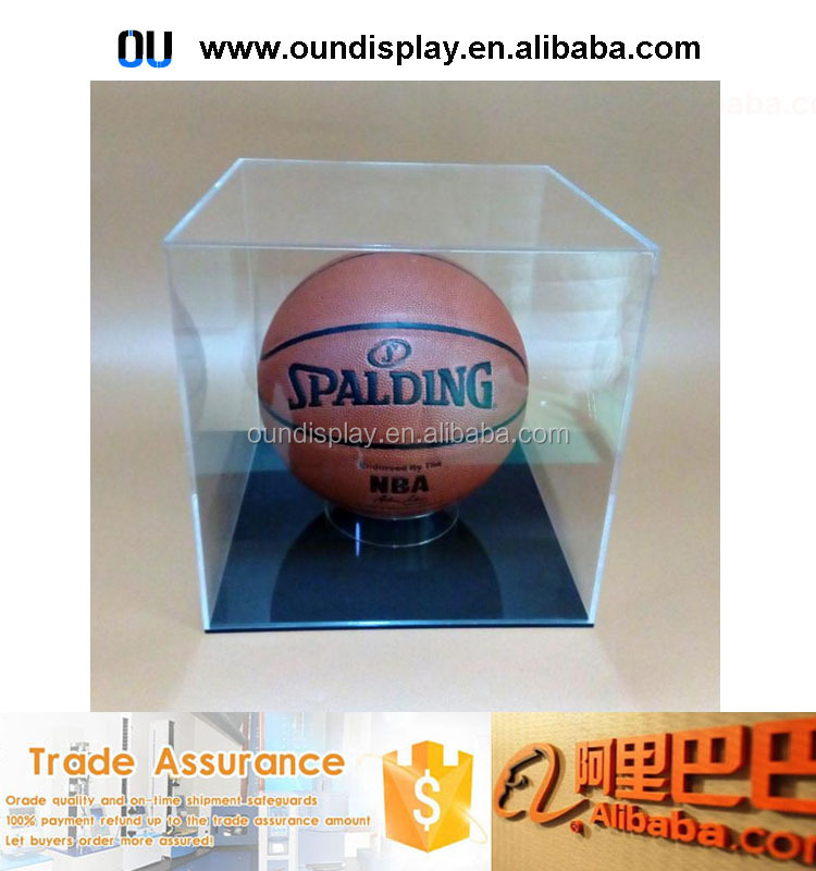 sport series product baseball case acrylic Lucite basketball display case