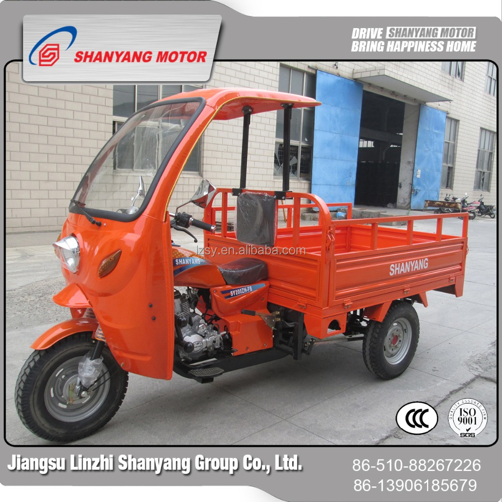China three wheel bike with driver cabin battery motorcycle tricycle electric tuck cargo scooter