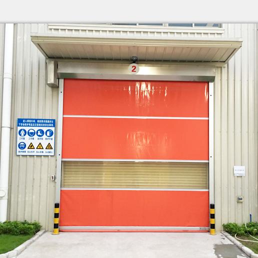PVC High Speed Automatic Garage Shutter Door Interior Folding Door