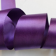 Double Side Satin Tape Bias Purple Ribbon for Gift packing