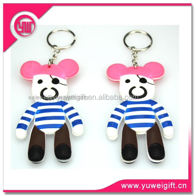 Wholesale custom made keychains/3D keychain/PVC flexible glue key chian/cheap cartoon chains