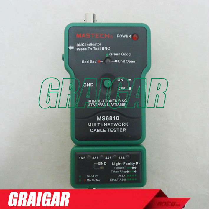 Multi Network Cable Tester Meter RJ45 BNC Tests for Coaxial Cable MASTECH MS6810