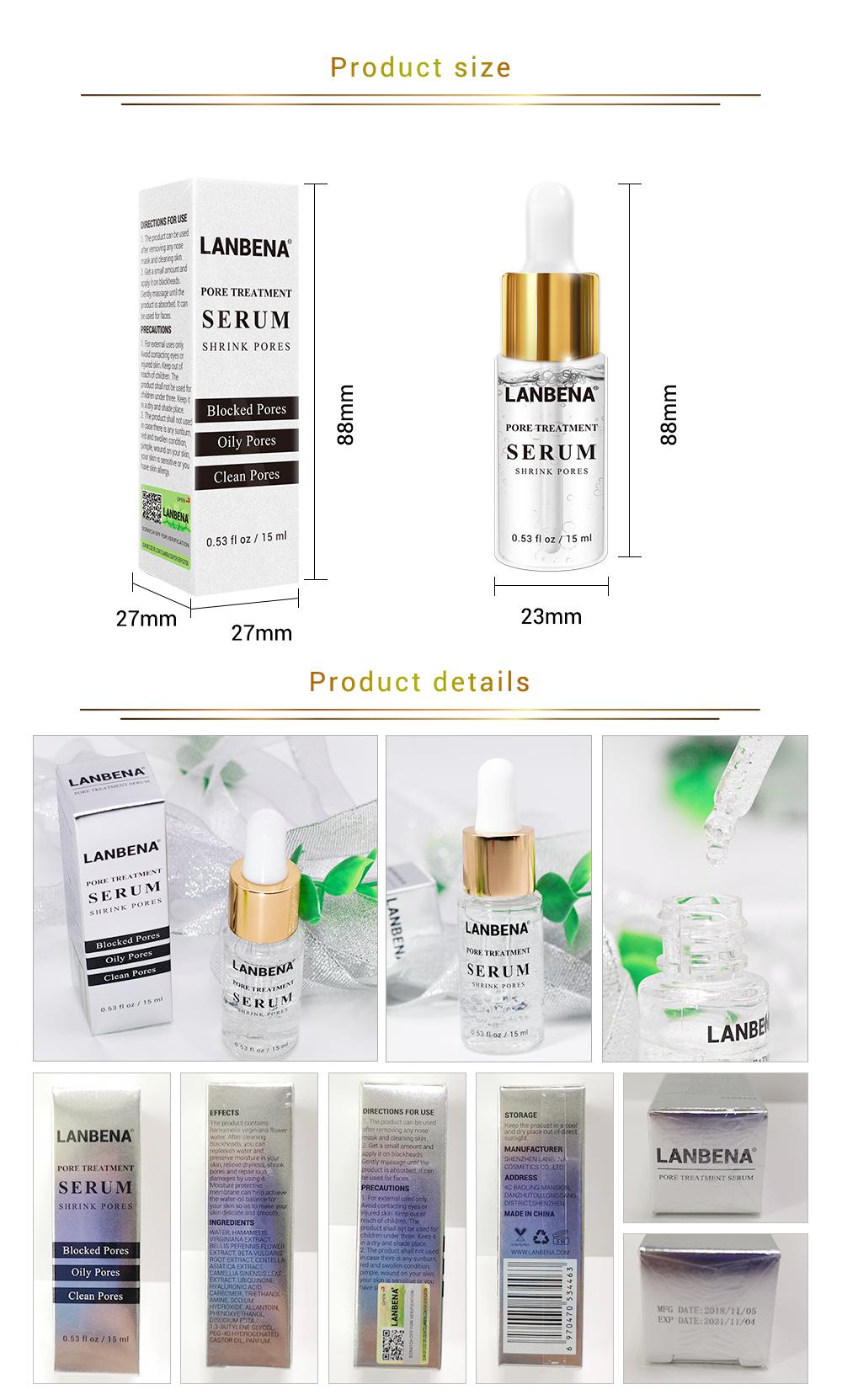 Lanbena Pore Minimizer Serum For Shrinking Weekly Deals Buy Pore