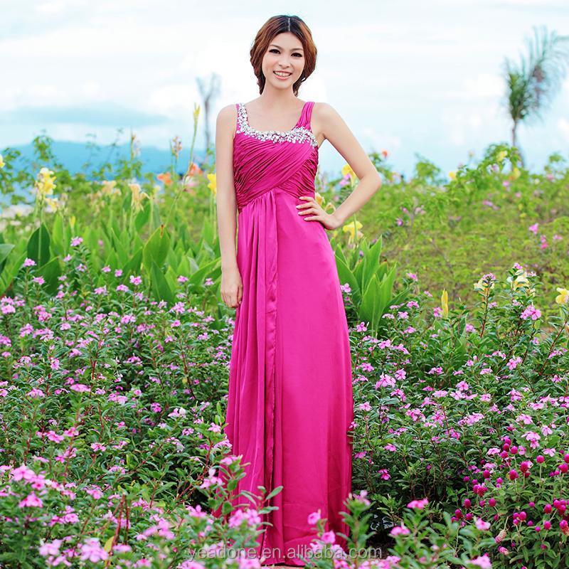 Venta al por mayor tafetan morado vestidos-Compre online los mejores ...