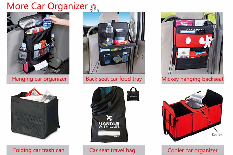 Isamanner newest fashion storage bag custom hanging car back seat organizer