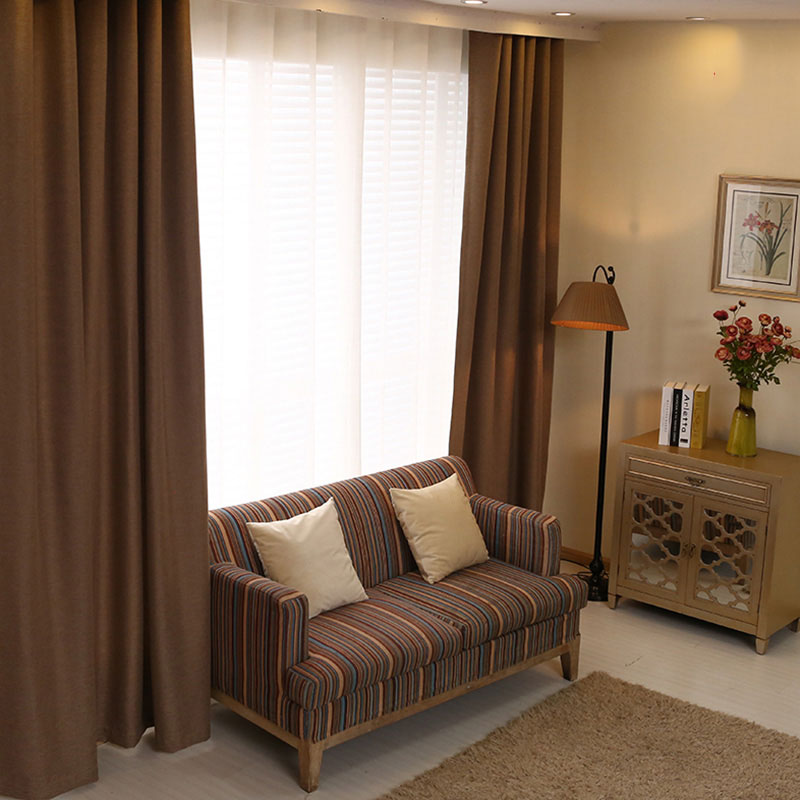 Bedroom Curtains Solid Color Japan Window Shades Imitation