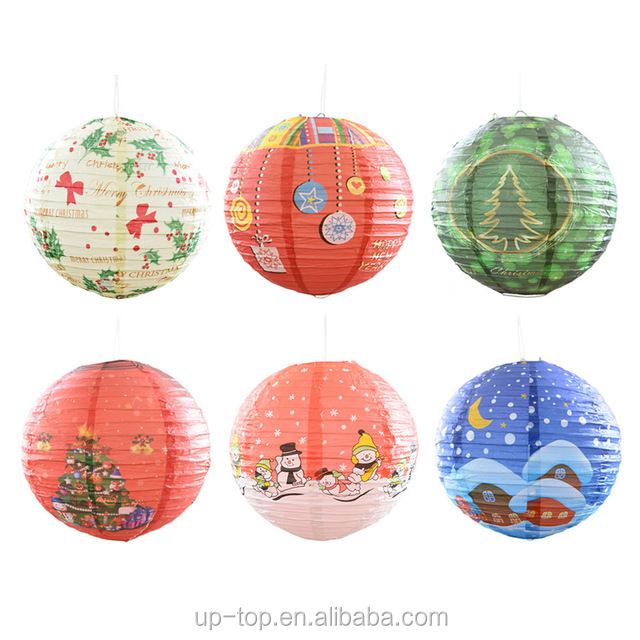 Merry Christmas Decorative Paper Lamp Shade Christmas Tree Snowman Santa Claus Christmas Xmas Paper Lantern Buy Christmas Decorative Lantern Hanging