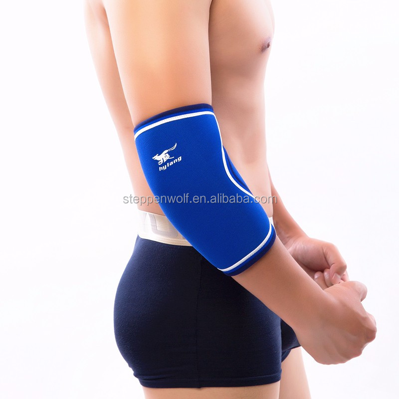hot selling 7 mm Neoprene elbow Sleeves Training Weight Lifting Fitness elbow Support Compression