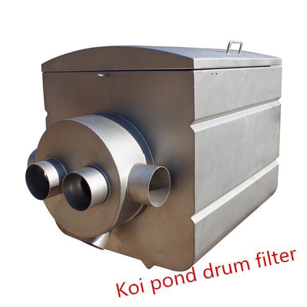 Tamburo filtro per laghetto con koi e piscina acquari o for Koi pond pool filter