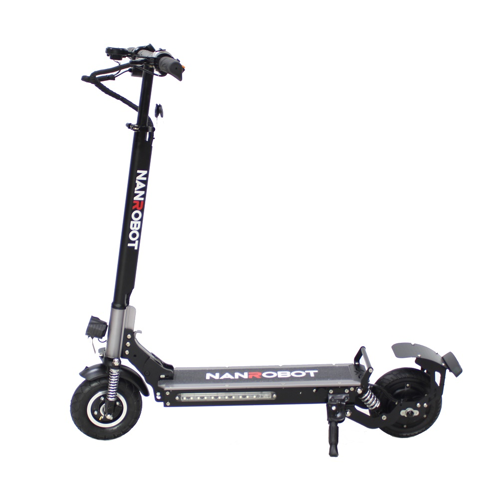 NANROBOT High speed 8inch wide two wheel 36v 350w dual motor foldable electric e scooter