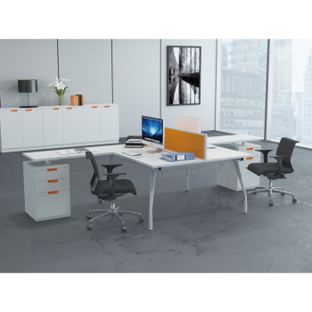 Modern Office Furniture Table Design Double Side T Shaped Secretary Desk Kl 04