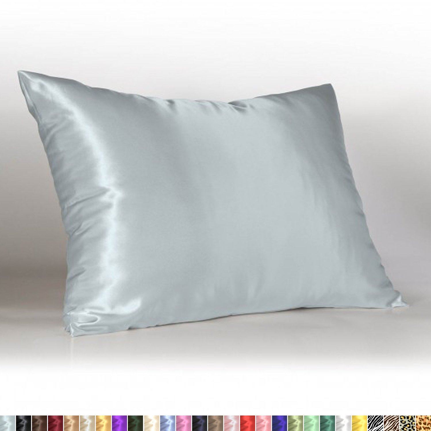 Sweet Dreams - Blissford Luxury Satin Pillowcase with Zipper, Standard Size, Baby Blue (Silky Satin Pillow Case for Hair) By Shop Bedding (1-Pack)
