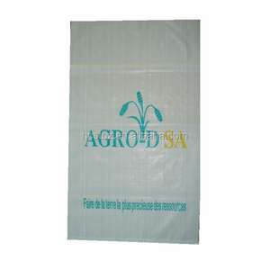 China manufactory 25kg plastic packing corn starch bags export to South American