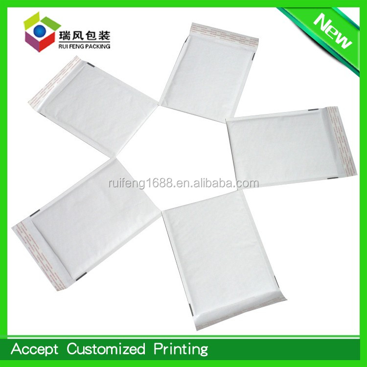 White kraft bubble mailers 6x10