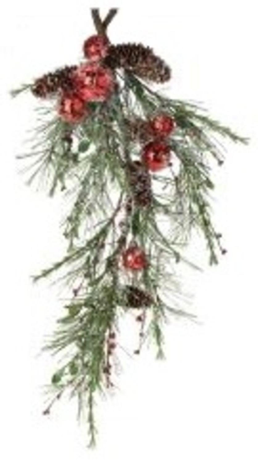 """26"""" Christmas Traditions Artificial Pine Jingle Bell Swag"""