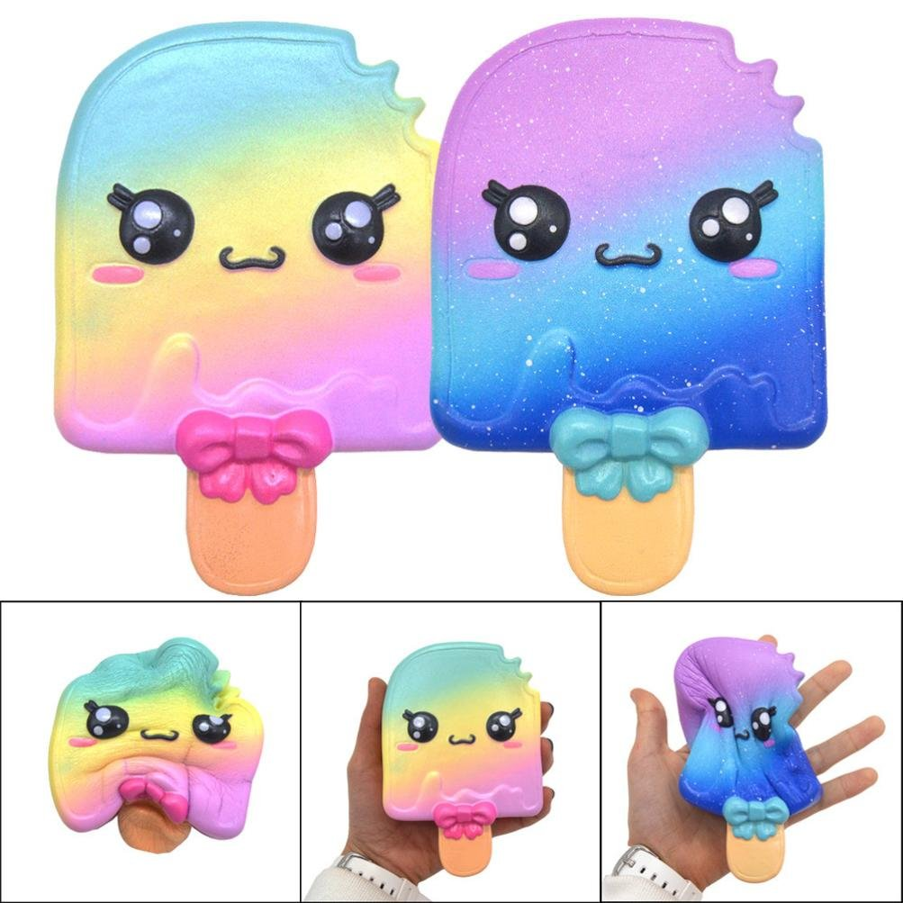 13cm Galaxy Ice Cream Squishy Toys Jumbo Prime Cheap, Kawaii Mochi Scented Non Toxic Healing Fun Charm Slow Rising Squishy Squeeze Stress Relief Toys For Kids Boys Girls Autism Adults (A)