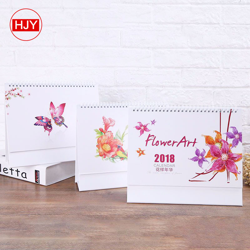 Top quality paper desk calendar 2019 / wooden table  calendar printing