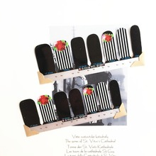 Gorgeous Royal Rose Style Nail Arts Stickers 14 pcs set Full Tape Patch Waterproof Foils Decals
