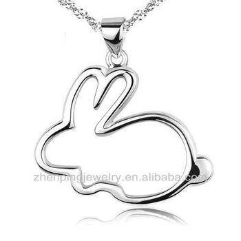 Chinese zodiac bunny rabbit pendants necklaces for womenfashion chinese zodiac bunny rabbit pendants necklaces for women fashion jewelry for girlfriend aloadofball Choice Image