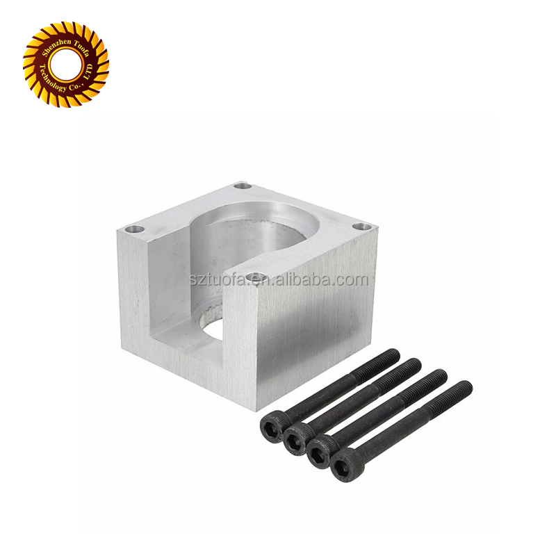 CNC milling machining parts/aluminum bracket connector with bolt