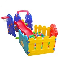 Plastic PP Indoor play slide with ball pool