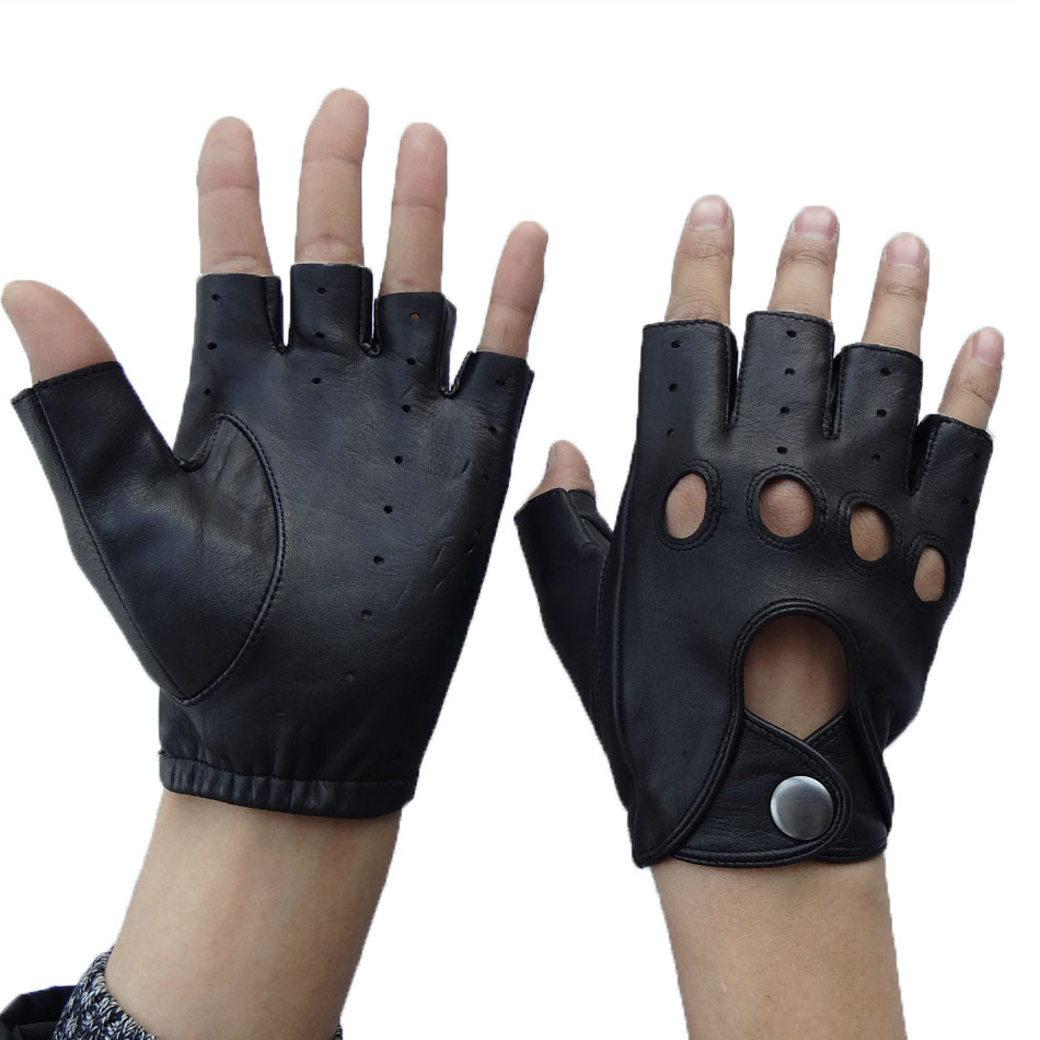 Hot Leathers Leather Driving Gloves Black, Large