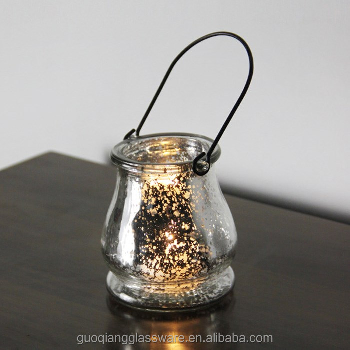 Wedding decoration antique tealight glass hanging candle holders