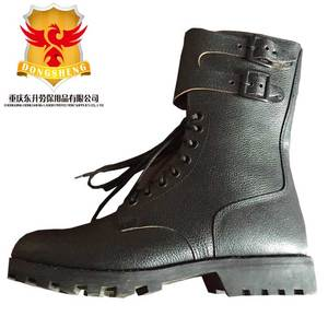 Black patent full leather dms army boots 9Inch