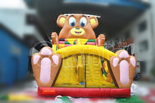 18ft bear giant inflatable slide/titanic inflatable slide for sale