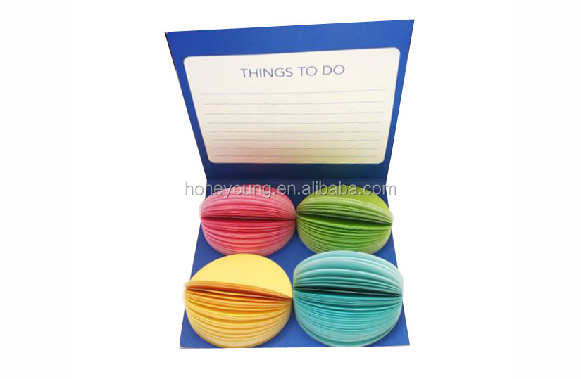 colorful customized sheets individual packing round shape notes