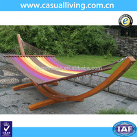 Beach Quilted 2-person Double Hammock With Wood Frame/ Wooden ...