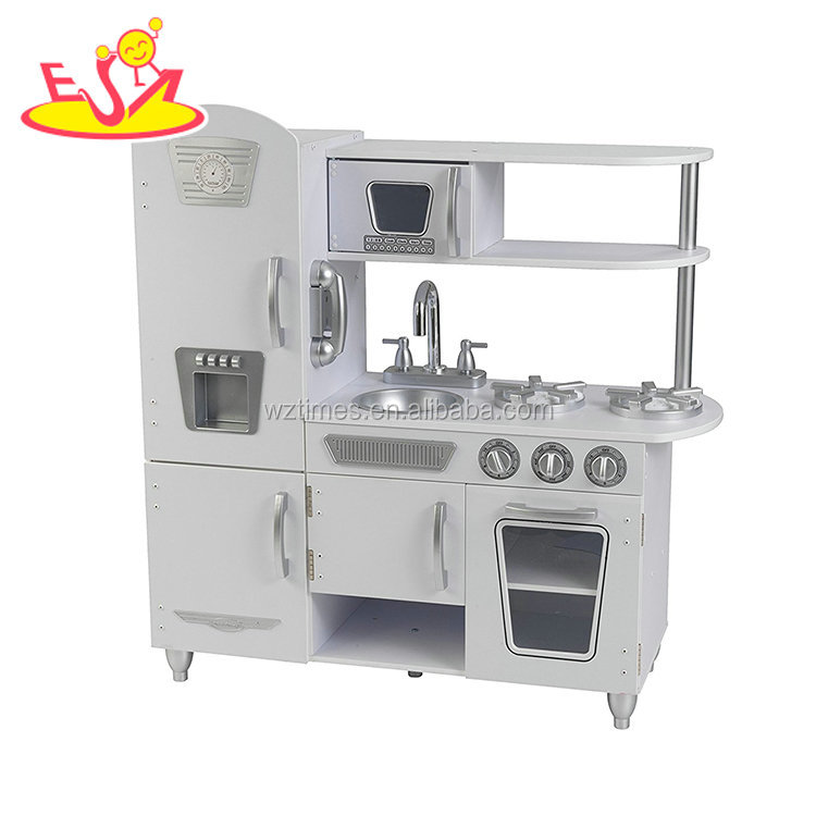 2018 Hottest luxury wood material mini role play kitchen set funny kitchen toy set for kids W10C367