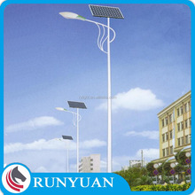 integrated solar street light pole for decorative