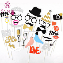 Populaire sales funny party wedding favor bruid <span class=keywords><strong>team</strong></span> en bruidegom <span class=keywords><strong>team</strong></span> photo booth props