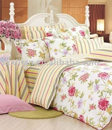 reactive printing bedding set, cotton bed spread cotton home textile