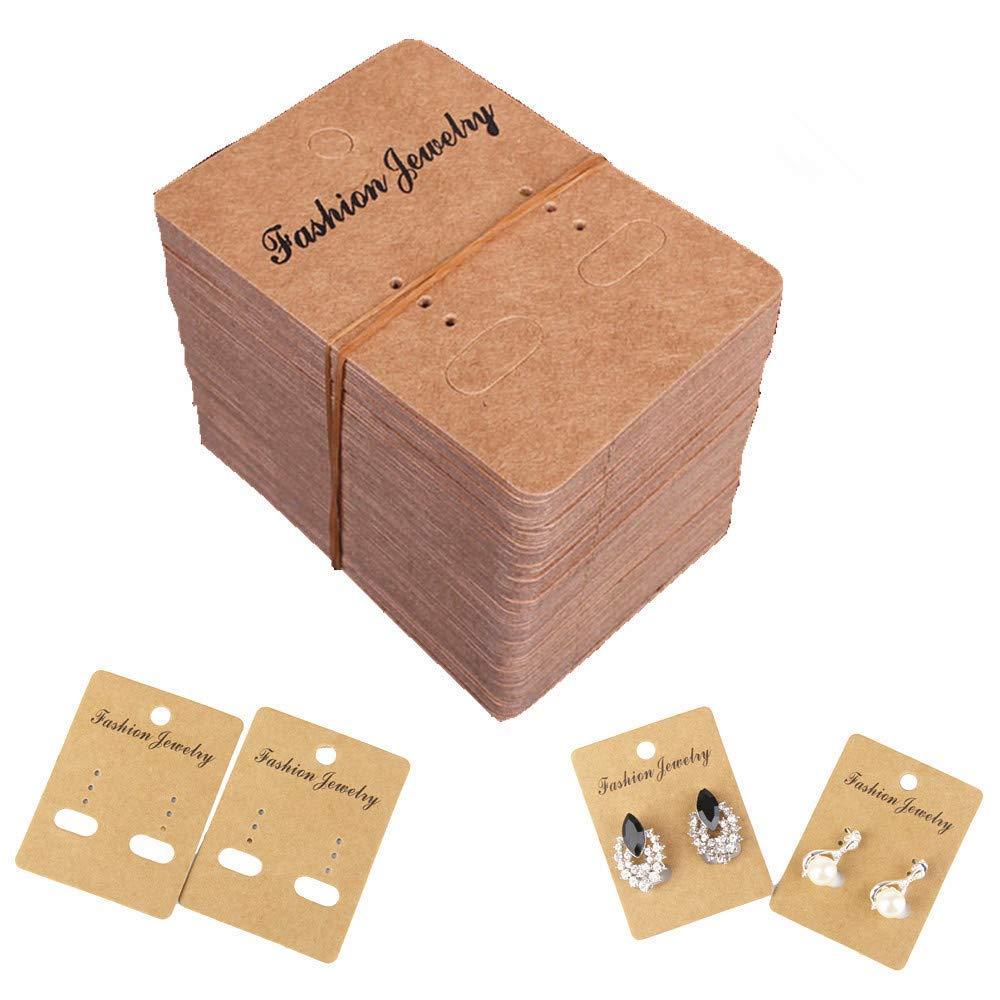 DIY Store Bulk Wholesale 200 pcs Jewelry Earring Stud Craft Paper Display Cards Blank
