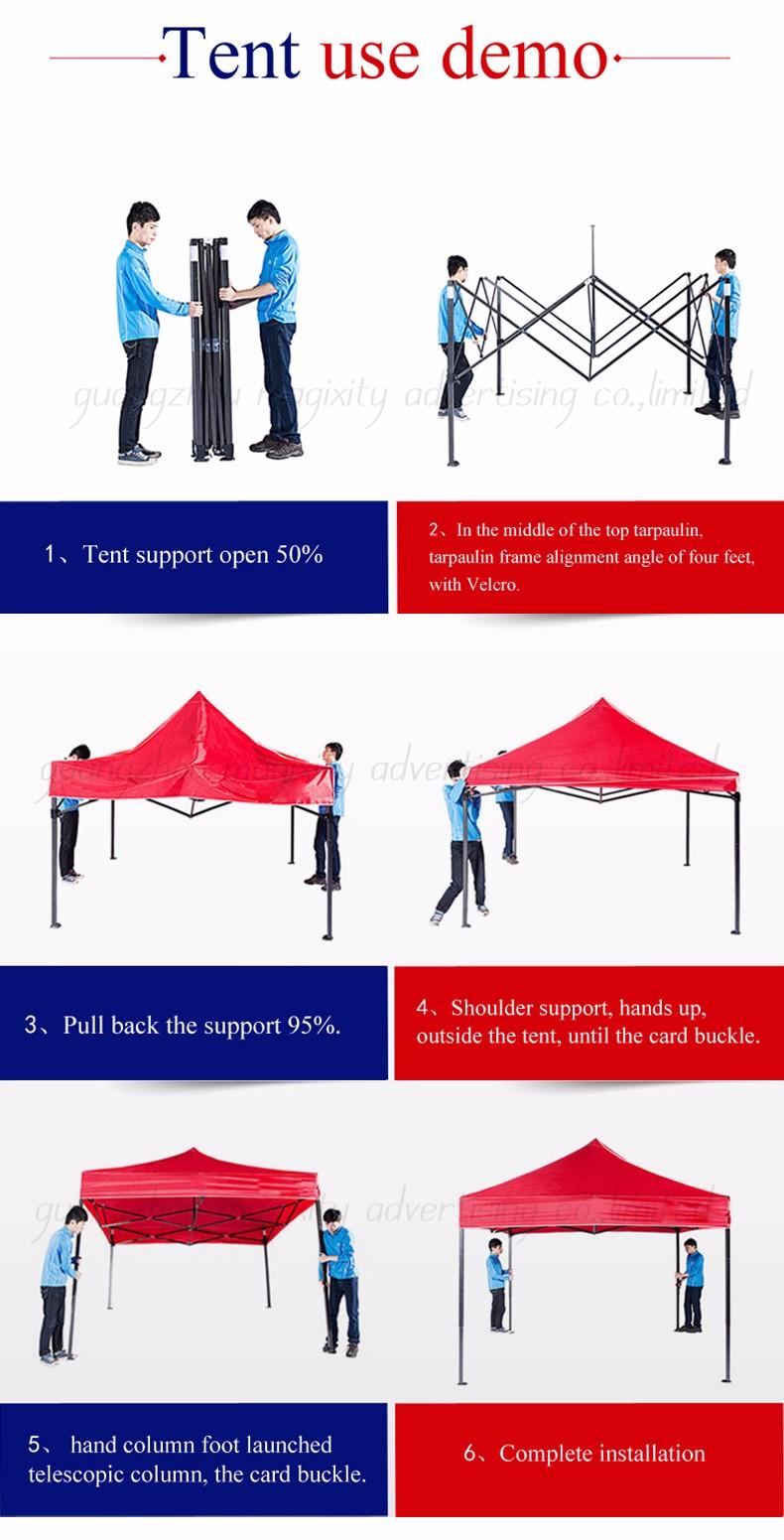 Outdoor Easy Up Tent Pop Up Canopy,Aluminum Folding Gazebo Tent 3x3 4x6 4x4  3x4 Waterproof - Buy 3x3 Pop Up Tent,Exhibition Tent,Outdoor Tents Product