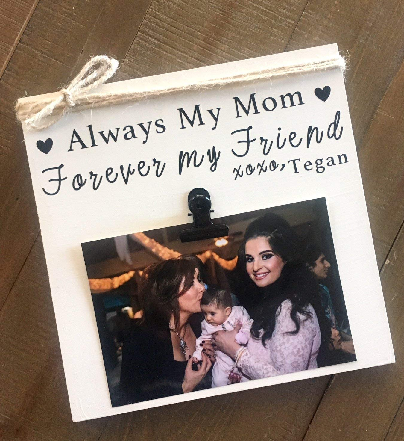 """Always My Mom, Forever My Friend, 8""""x8"""" or 8""""x10"""", Personalize with your name! Personalized Picture Frames"""