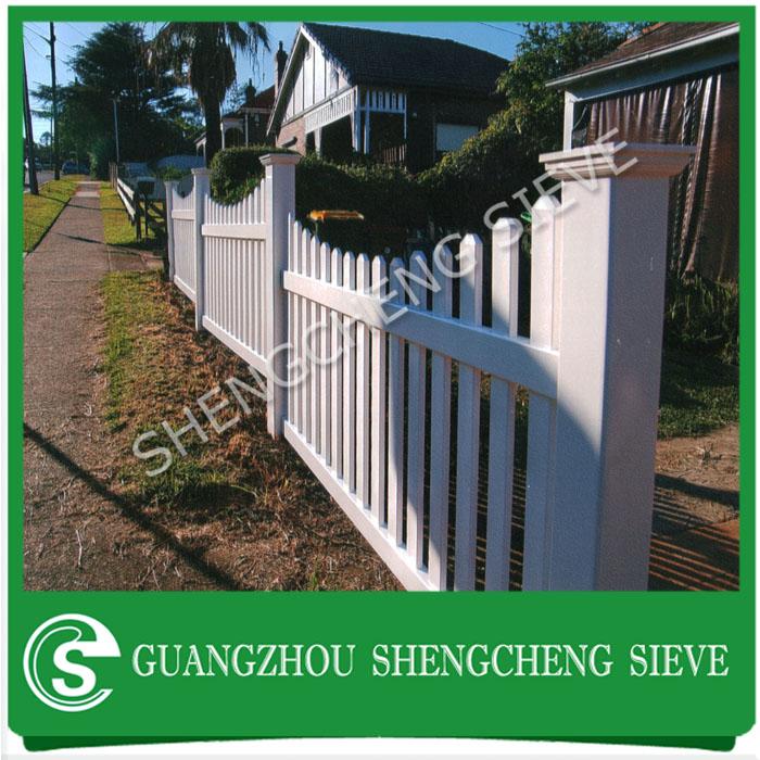 Natural Garden Fencing White Platsic Vinyl Picket Pvc