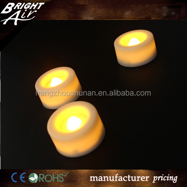 Flameless moving wick LED tealgiht candle