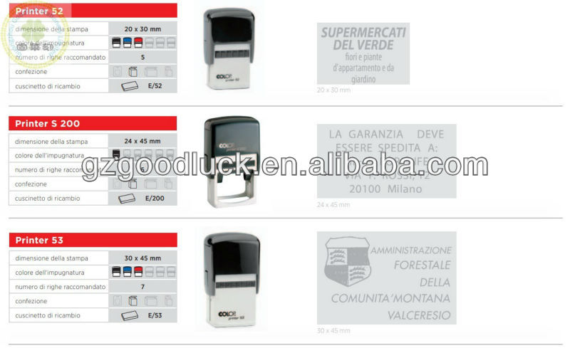 Self-inking ID guard stamp materials/Rubber ID guard Roller inked stamps