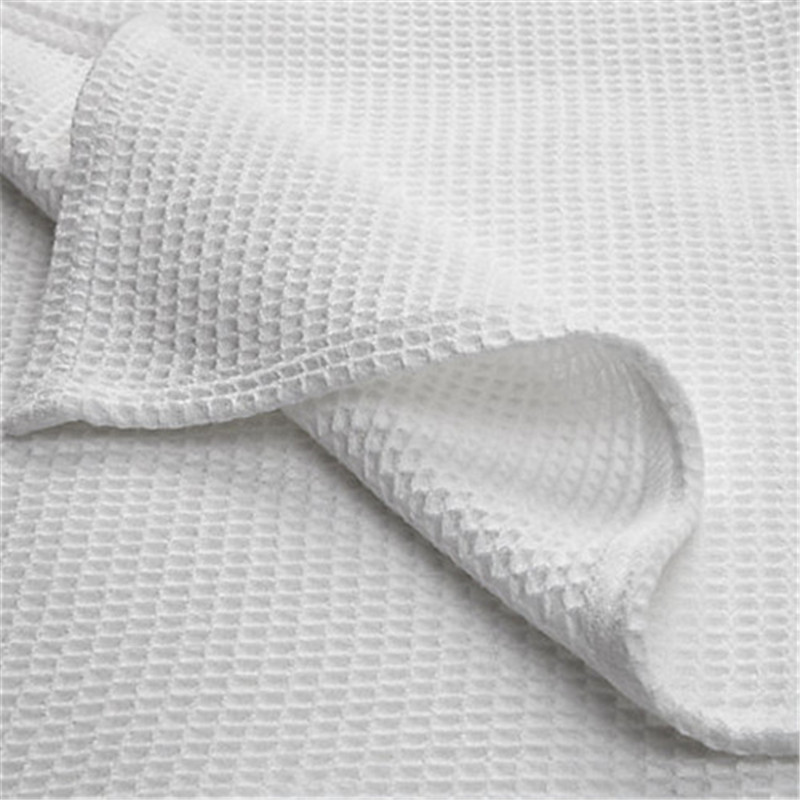 Waffle Weave Blanket 100% Cotton Breathable Warm Blanket for Winter and Summer King Size White