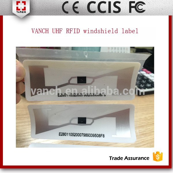 UHF RFID tamper proof windshield tag for car parking gate control