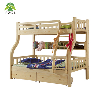 Fashion Furniture Kids Double Bunk Bed Solid Wood Bed