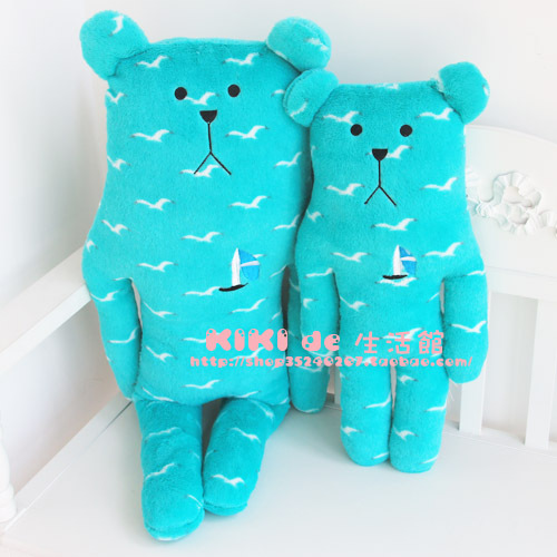 Hot selling CRAFT cute seagull Sailboat Pillow bunny and bear plush dolls L size home plush kids gifts pillow free shipping