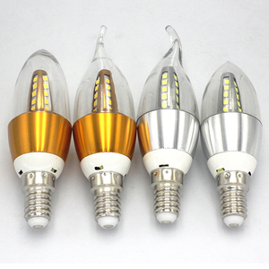High lumen 3W 5W 7W vintage candelabra bulb dimmable e27 e12 clear candle bulb led light e14