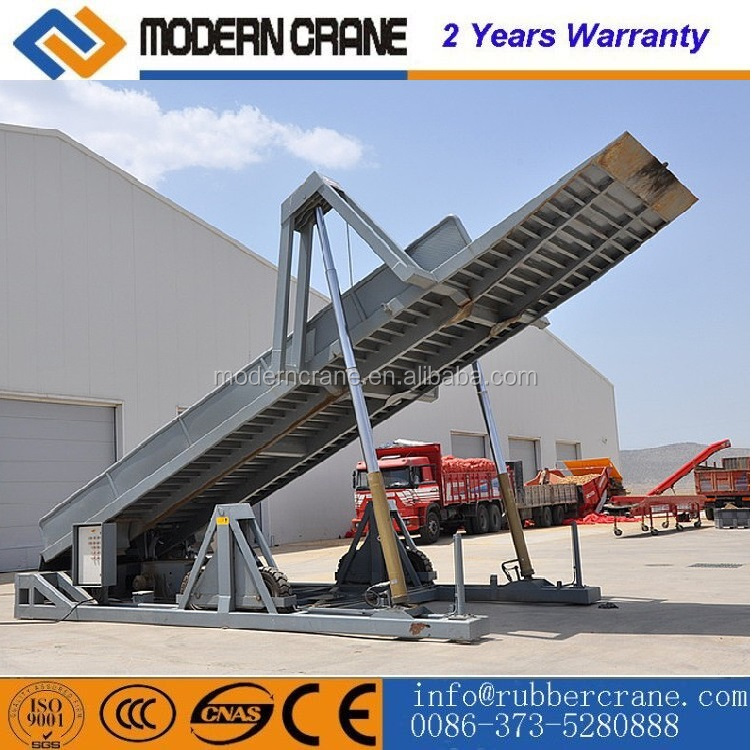 Hydraulic container unloading system container discharger platform