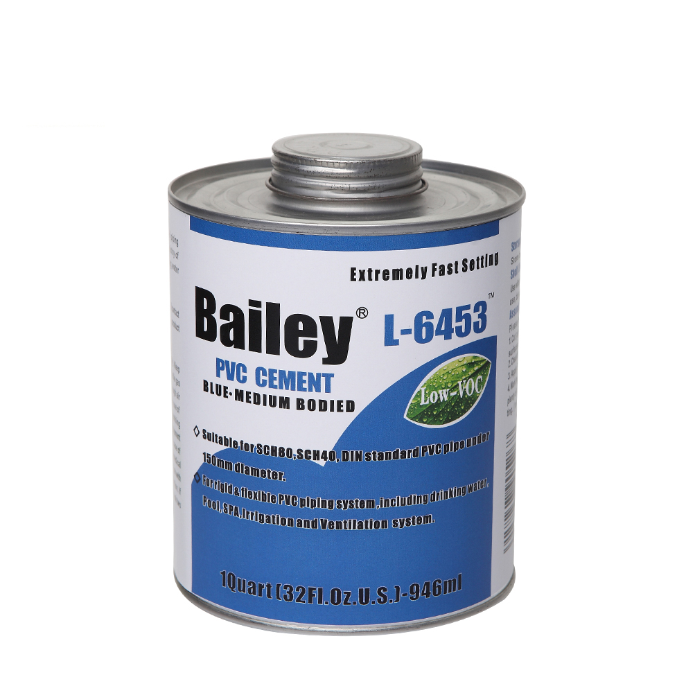 Blue NSF L-6453 UPVC / PVC Solvent Cement for PVC Pipe and Fittings Which is Fast Setting