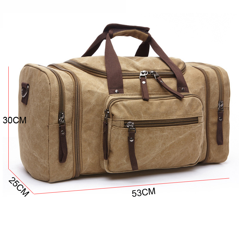 1026129232 cheap extensible large multifunctional canvas travel bag with shoulder  stripe